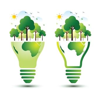 Concetto di terra verde