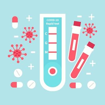 Concetto di test rapido di coronavirus