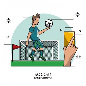 Concetto di torneo di calcio