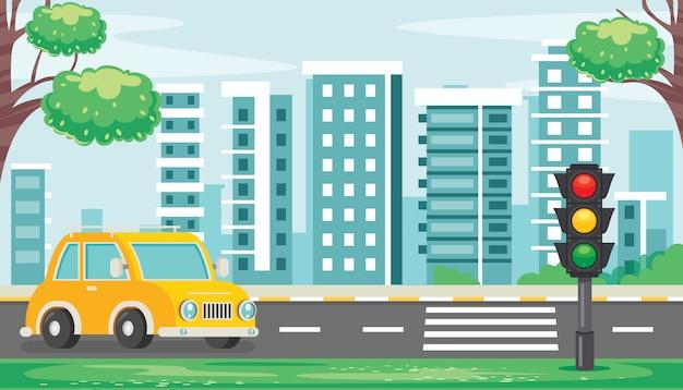 Concetto di traffico con luci e attrezzature