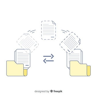 Concetto di trasferimento file per landing page