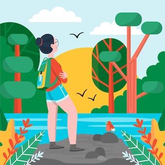 Concetto di turismo eco