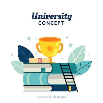 Concetto di università piatta
