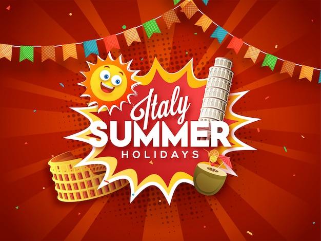 Concetto di vacanze estive in italia