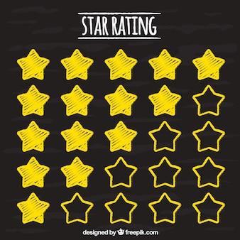 Concetto di valutazione della stella del gesso creativo
