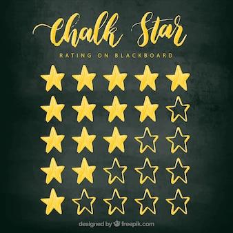 Concetto di valutazione della stella del gesso dorato