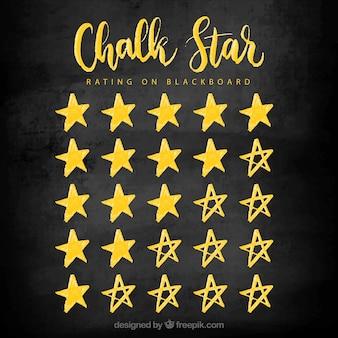 Concetto di valutazione della stella del gesso giallo