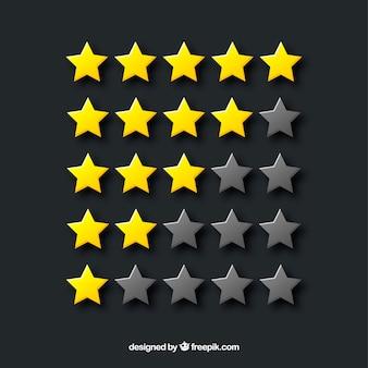 Concetto di valutazione della stella lavagna creativo