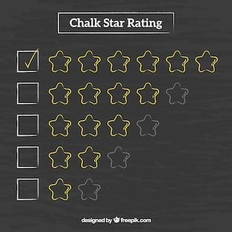 Concetto di valutazione stella elegante lavagna