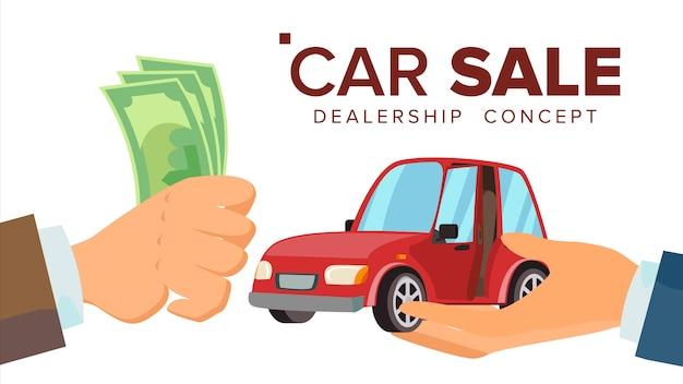 Concetto di vendita auto