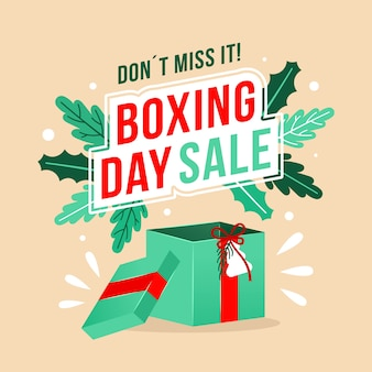 Concetto di vendita di boxe design piatto