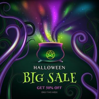 Concetto di vendita di halloween