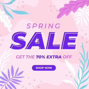 Concetto di vendita di primavera design piatto