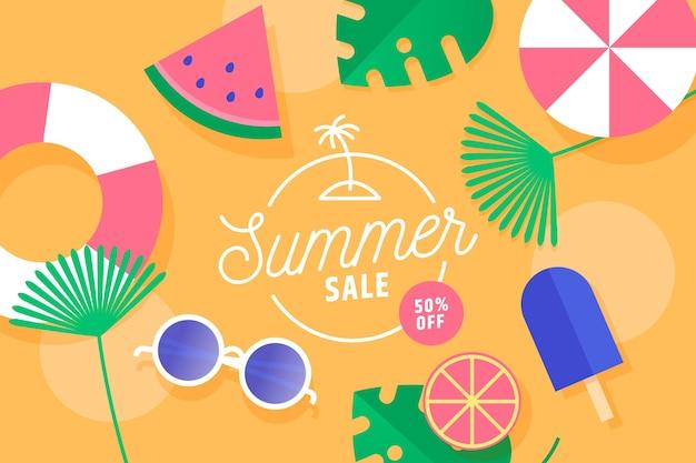 Concetto di vendita estate colorata