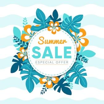 Concetto di vendita estate disegnata