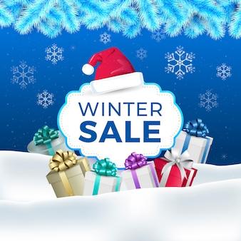 Concetto di vendita inverno design piatto