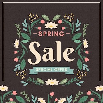 Concetto di vendita primavera vintage