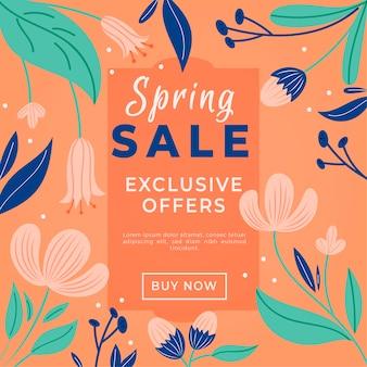 Concetto di vendita promozionale primavera disegnati a mano