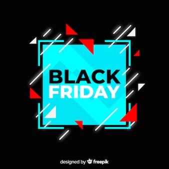 Concetto di venerdì nero con sfondo design piatto