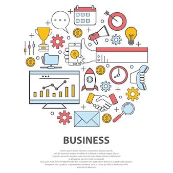 Concetto di vettore del centro di affari. per sito web, design di stampa, biglietto da visita