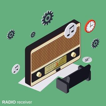 Concetto di vettore del ricevitore radio