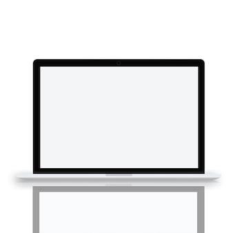 Concetto di vettore dell'icona di tecnologia wireless ui del computer portatile