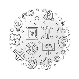 Concetto di vettore di soluzioni aziendali