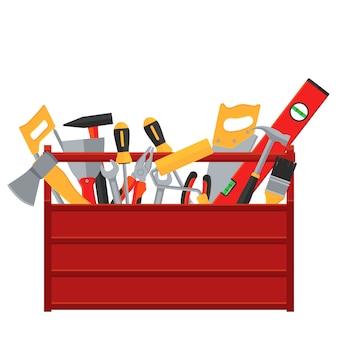 Concetto di vettore di strumenti di riparazione e costruzione