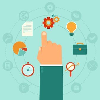 Concetto di vettore - gestione aziendale