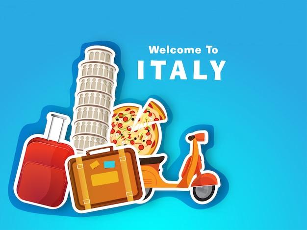 Concetto di viaggio in italia