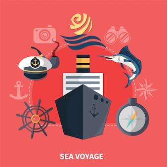 Concetto di viaggio per mare