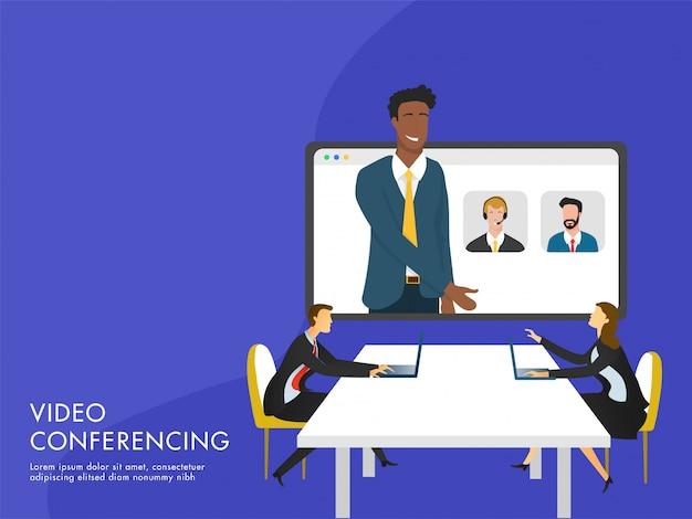 Concetto di videoconferenza