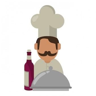 Concetto di vino e gastronomia