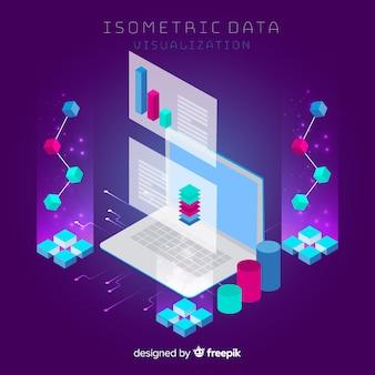 Concetto di visualizzazione dei dati isometrici