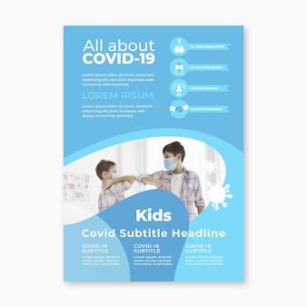 Concetto di volantino informativo sul coronavirus