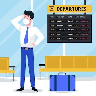 Concetto di volo annullato