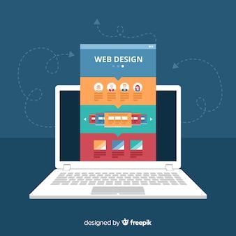 Concetto di web design moderno con stile piano