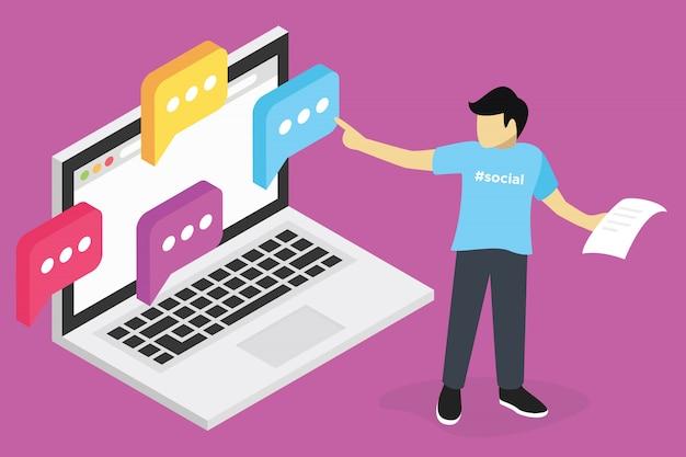 Concetto di webinar, formazione online di marketing seo, formazione sul computer, e apprendimento sul posto di lavoro