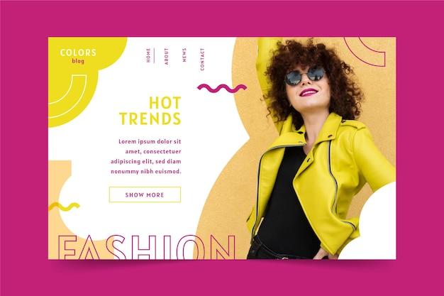 Concetto di webtemplate di vendita di moda