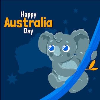 Concetto disegnato a mano di giorno dell'australia