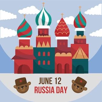 Concetto disegnato di giorno della russia