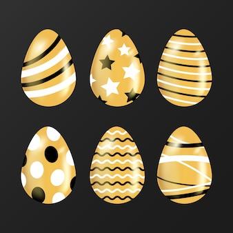Concetto dorato della raccolta dell'uovo di giorno di pasqua