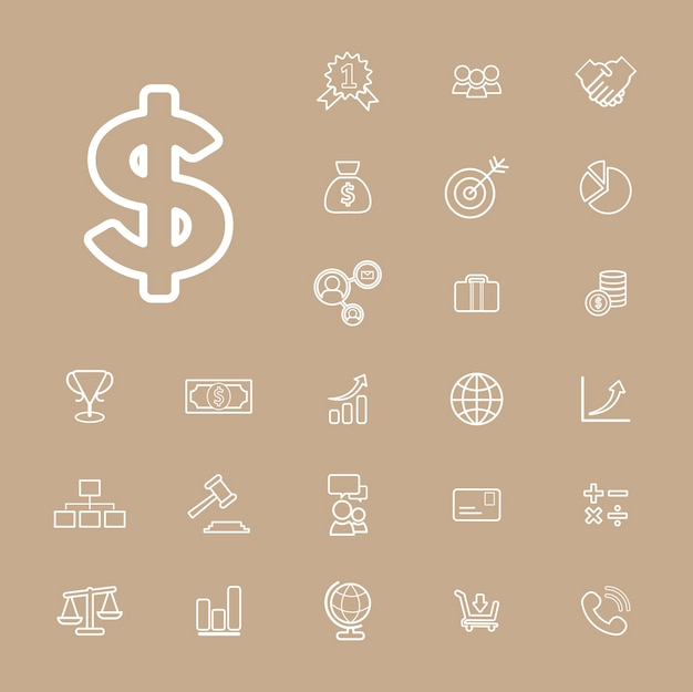 Concetto finanziario di ui di attività bancarie di vettore di raccolta