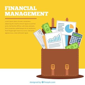 Concetto finanziario moderno con valigetta