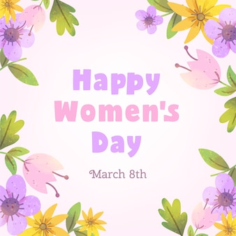 Concetto floreale del giorno delle donne