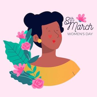 Concetto floreale di celebrazione di evento del giorno delle donne