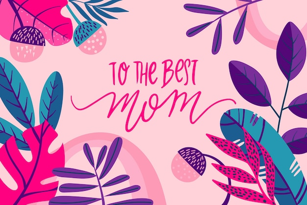 Concetto floreale festa della mamma internazionale