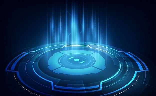 Concetto futuristico astratto di fi di sci di tecnologia del fondo