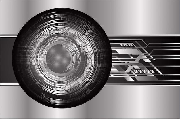 Concetto futuro di tecnologia del circuito cyber dell'occhio nero