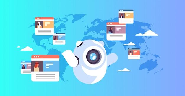 Concetto globale di chatbot con popolo arabo